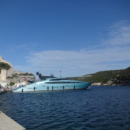 port, yacht, blue, Sony DSC-WX60