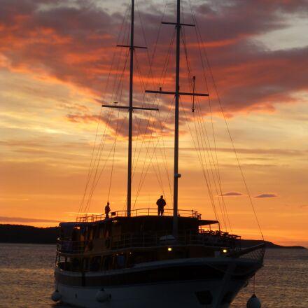 sunset, sea, romantic, Panasonic DMC-TZ30
