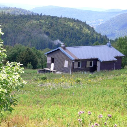 mountain hut, mountains, valleys, Panasonic DMC-FX7