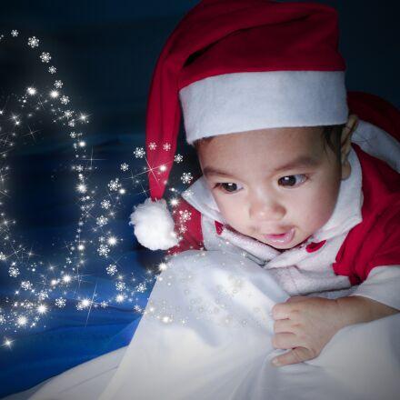 baby, santa, cute, Canon EOS KISS X5