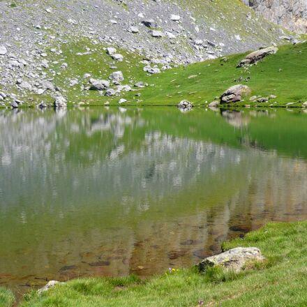 water, lake, high mountain, Panasonic DMC-FS3