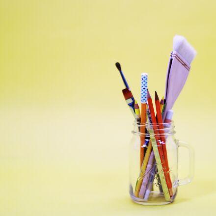 yellow, macaroon, brush, Canon EOS 5D MARK IV