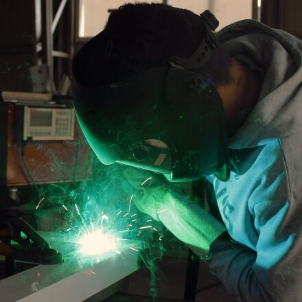 welding, iron, worker, Canon EOS 1200D