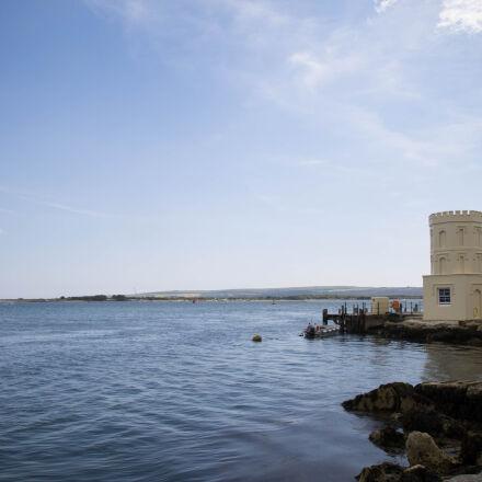 castle, ocean, sea, sky, Canon EOS 1100D