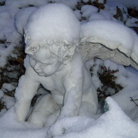 winter, angel, snow, Nikon COOLPIX S225