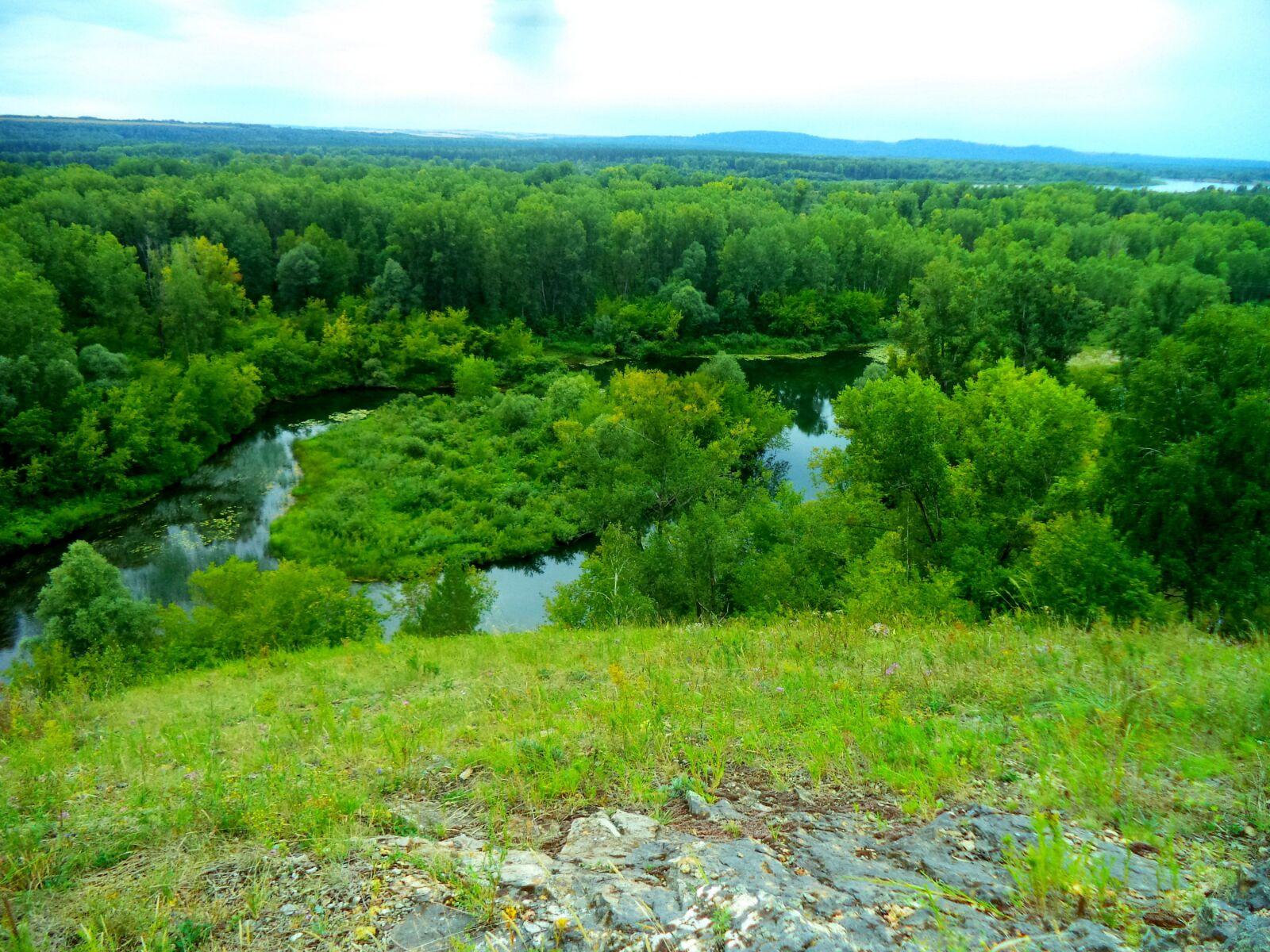 green, river, altai
