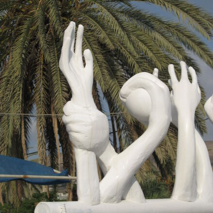 statue, of, palm, tree, Canon POWERSHOT A550