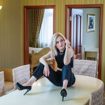 girl, blonde, portrait, Fujifilm X-E1