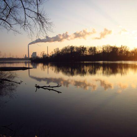 evening, sun, winter, Canon POWERSHOT A1200