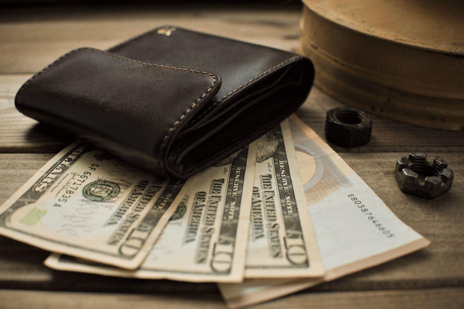 "Nikon D700 sample photo. ""Dollar, background, finances"" photography"