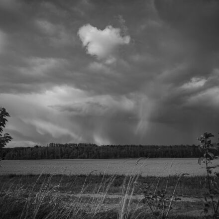 clouds, black and white, Canon EOS 700D