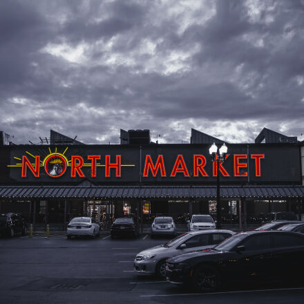 north, market, signage, building, Canon EOS 7D
