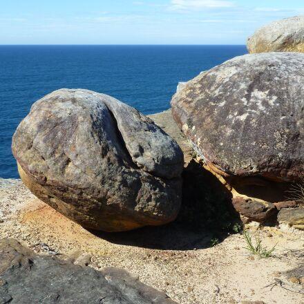 boulders, sea, nature, Panasonic DMC-ZS7